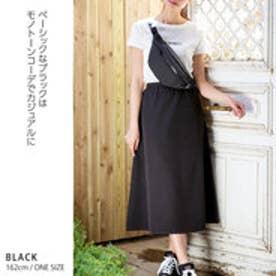 きれいめロングフレアスカート ブラック