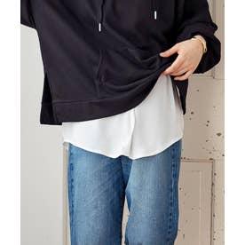 [トップス]レイヤード風シフォン付け裾[200225] (オフホワイト)