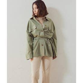 [トップス]ベルト付きシャツジャケット[200158] (ピスタチオ)