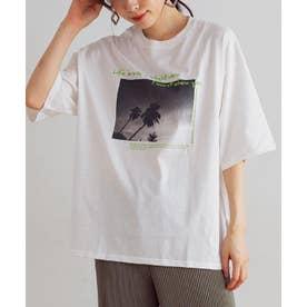 [トップス]ロゴ フォトプリントTシャツ[200801] (オフホワイト)