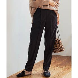 [パンツ]ストレッチ起毛ニットソーセンタープレスパンツ M/L[200725] (ブラック)