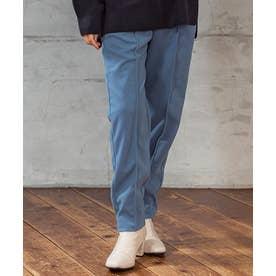 [パンツ]ストレッチ起毛ニットソーセンタープレスパンツ M/L[200725] (ブルー)