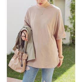 [トップス]ラウンドヘムオーバーサイズTシャツ[200810] (グレージュ)