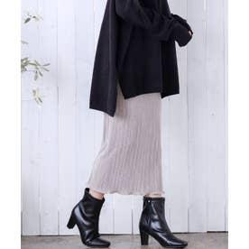 [スカート]サテンミニプリーツスカート[210609] (グレージュ)