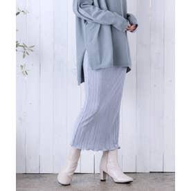 [スカート]サテンミニプリーツスカート[210609] (ブルー)