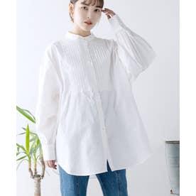 [トップス]ブロードピンタックシャツ[210835] (オフホワイト)