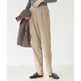 [パンツ]センタープレス起毛テーパードパンツ[210806] (ライトベージュ)
