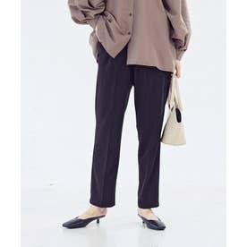 [パンツ]センタープレス起毛テーパードパンツ[210806] (ブラック)