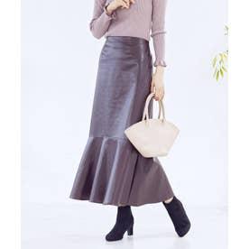 [スカート]フェイクレザーマーメイドスカート[210832] (ブラウン)