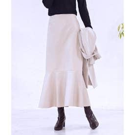 [スカート]フェイクレザーマーメイドスカート[210832] (アイボリー)