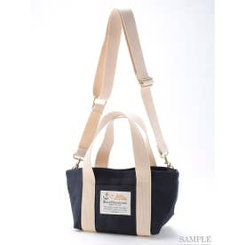 【BED&BREAKFAST】Sail Cloth Shoulder Bag Small (NAVY)
