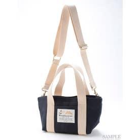【BED&BREAKFAST】Sail Cloth Shoulder Bag Small (NAVY)
