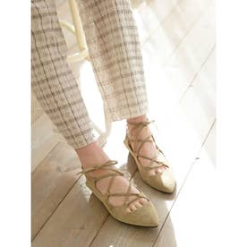 [BED&BREAKFAST]Lace Up サンダル (BEIGE)