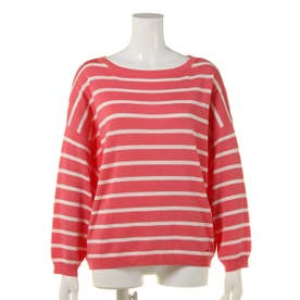 【BED&BREAKFAST】Classic Striped Sweater ドルマン (PINK MIX)