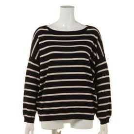 【BED&BREAKFAST】Classic Striped Sweater ドルマン (BLACKmix)