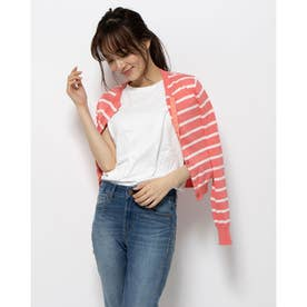 【BED&BREAKFAST】Classic Striped Sweater クルーネックカーデ (PINK MIX)