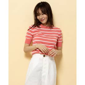 【BED&BREAKFAST】Classic Striped Sweater クルーネック半袖 (PINK MIX)