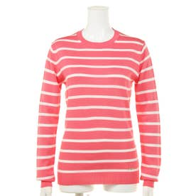 【BED&BREAKFAST】Classic Striped Sweater クルーネック長袖 (PINK MIX)