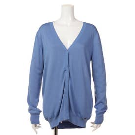 【BED&BREAKFAST】Classic Solid Sweater Vネックカーデ (BLUE)