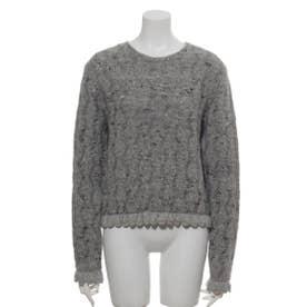 [GREED]Mix Seed Stitch ショートセーター (GRAY)