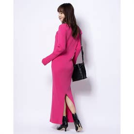 [BED&BREAKFAST]Exclusive Rib ドレス (PINK)