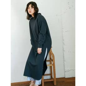 [BED&BREAKFAST]Diorama Jersey ドレス (CHARCOAL)