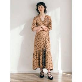 [BED&BREAKFAST]Summer Flower Jacquard ラップドレス (BEIGE)