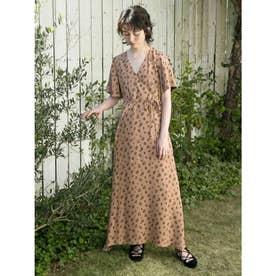 [BED&BREAKFAST]Summer Flower Jacquard ロングドレス (BEIGE)