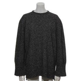[BED&BREAKFAST]Silk Nep Wool 長袖セーター (BLACK)