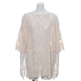 [BED&BREAKFAST]Floral Stretch Lace 半袖Tシャツ (IVORY)