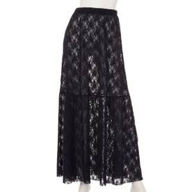 【BED&BREAKFAST】LILY LACE Long Skirt (NAVY)