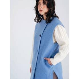 [GREED]Super140s Wool Seep ベストコート (BLUE)