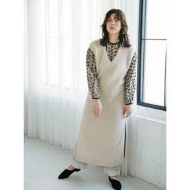 [GREED]Superfine Fur ロングドレスセーター (IVORY)