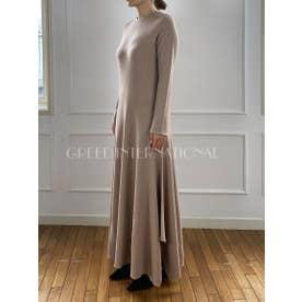 [GREED]Super120s Wool Stripe Jacquard ドレス (BEIGE)