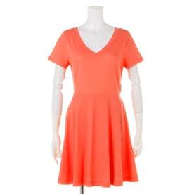 【BED&BREAKFAST】Technorama Standard Flared Skirt Dress (ORANGE)