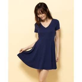 【BED&BREAKFAST】Technorama Standard Flared Skirt Dress (NAVY)