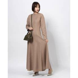 [GREED]Super140s Wool Milled Melton ドレス (BEIGE)