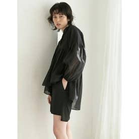 [BED&BREAKFAST]Military Satin スカート (BLACK)
