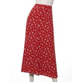 [BED&BREAKFAST]Summer Flower Jacquard フレアースカート (RED)