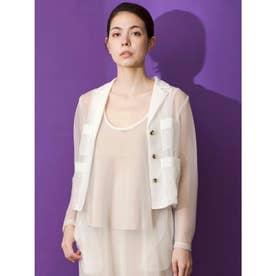 [GREED]Sheer Nylon Jacket (WHITE)