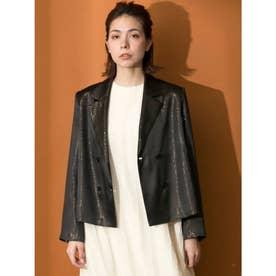 [GREED]Sparkle Lame Shirts Jacket (BLACK)