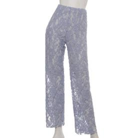 [BED&BREAKFAST]Floral Stretch Lace パンツ (BLUE)