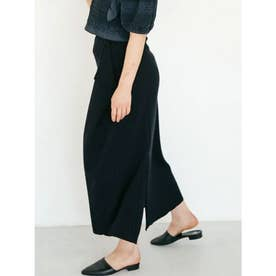 [GREED]Super120s Wool Stripe Jacquard スカート (NAVY)