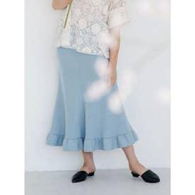 [GREED]Super140s Wool Milled Melton スカート (BLUE)