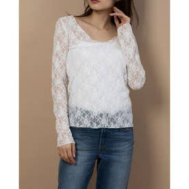 【BED&BREAKFAST】Lily Lace 長袖 (WHITE)