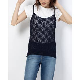 【BED&BREAKFAST】Lily Lace キャミソール (NAVY)