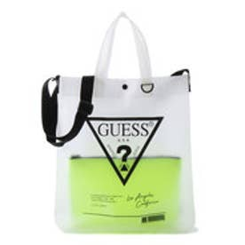 TRIANGLE LOGO CLEAR TOTE BAG (LIME)