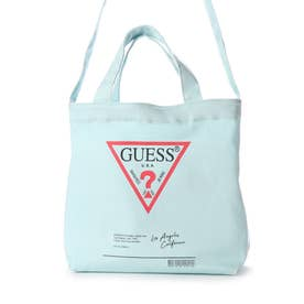 TRIANGLE LOGO CLEAR-SIDE TOTE BAG (MINT)