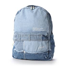 LOGO RE-MAKE DENIM BACKPACK (MEDIUM BLUE)