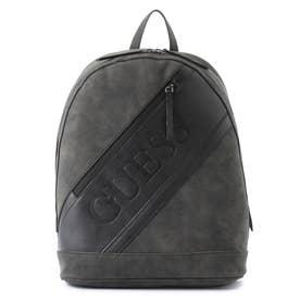 MOTORSPORT Faux Suede Backpack (BLACK)